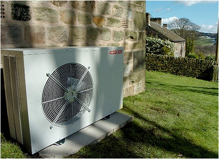 An example of an Air Source Heat Pump