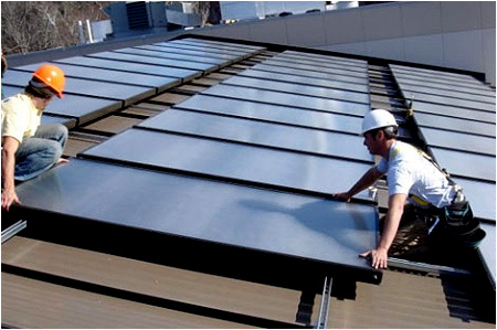 An example of Solar Water Heating